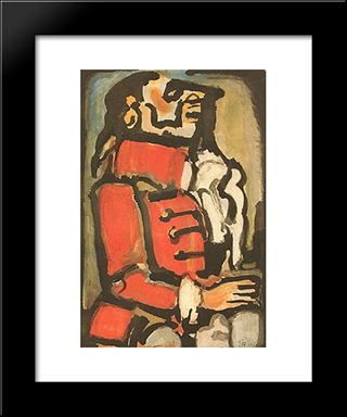 L'Quais: Modern Black Framed Art Print by Georges Rouault