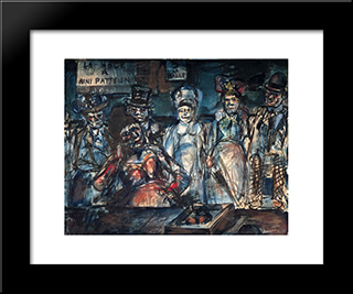 Slaughter: Modern Black Framed Art Print by Georges Rouault