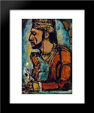 The Old King: Modern Black Framed Art Print by Georges Rouault