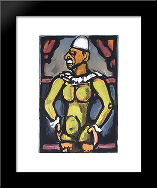 Triste Os From Cirque De L'Etoile Filante: Modern Black Framed Art Print by Georges Rouault