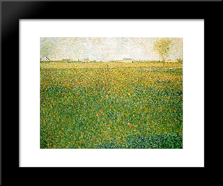 Alfalfa, St. Denis: Modern Black Framed Art Print by Georges Seurat