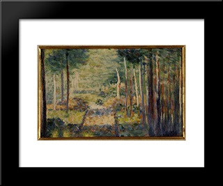 Alley In The Forest, Barbizon: Modern Black Framed Art Print by Georges Seurat