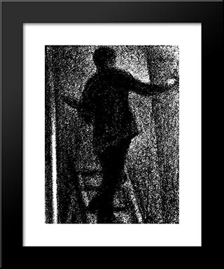Artist At Work: Modern Black Framed Art Print by Georges Seurat