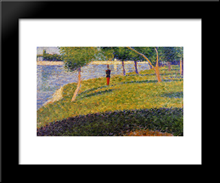 Cadet From Saint-Cyr: Modern Black Framed Art Print by Georges Seurat