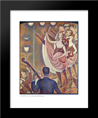 Chahut: Modern Black Framed Art Print by Georges Seurat