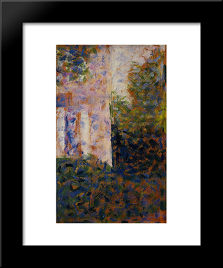 Corner Of A House: Modern Black Framed Art Print by Georges Seurat