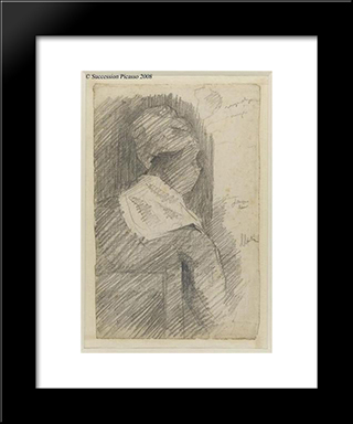 Female From Back (Black Woman): Modern Black Framed Art Print by Georges Seurat