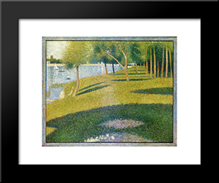 La Grande Jatte: Modern Black Framed Art Print by Georges Seurat