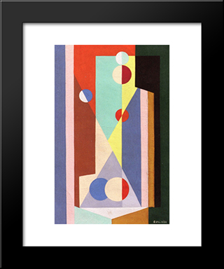 Geometric Composition: Modern Black Framed Art Print by Georges Valmier