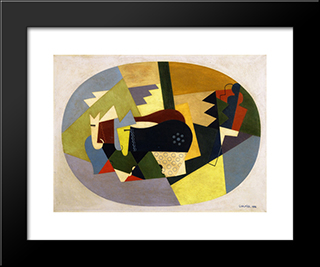 The Cattle On The Mountain: Modern Black Framed Art Print by Georges Valmier