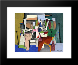 The Piano: Modern Black Framed Art Print by Georges Valmier