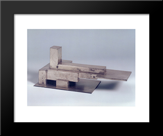Aeroport Plus Armature (Type A): Modern Black Framed Art Print by Georges Vantongerloo