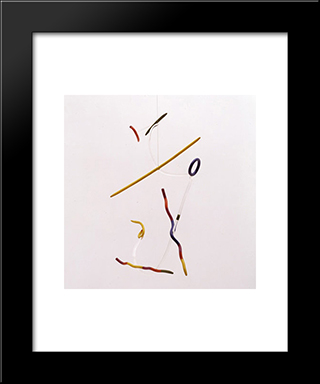 Colours In Space: Modern Black Framed Art Print by Georges Vantongerloo