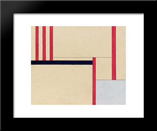 Fonction De Lignes: Modern Black Framed Art Print by Georges Vantongerloo