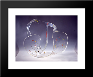 Forms And Colours In Space: Modern Black Framed Art Print by Georges Vantongerloo
