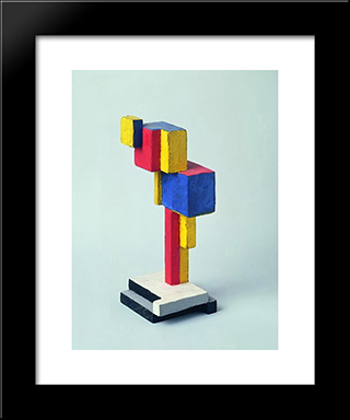 Komposition Aus Dem Ovoid: Modern Black Framed Art Print by Georges Vantongerloo