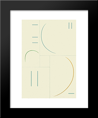 Kurven: Modern Black Framed Art Print by Georges Vantongerloo