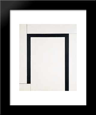 No. 94 (Etendue Fermee): Modern Black Framed Art Print by Georges Vantongerloo