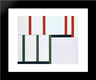 No. 98 2478 Red - 135 Green: Modern Black Framed Art Print by Georges Vantongerloo