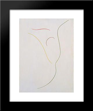 Relation Of Lines And Colors: Modern Black Framed Art Print by Georges Vantongerloo