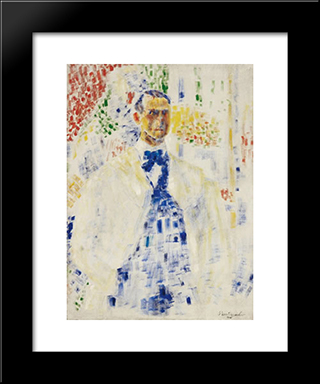 Self - Portrait: Modern Black Framed Art Print by Georges Vantongerloo