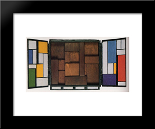 Triptychon: Modern Black Framed Art Print by Georges Vantongerloo