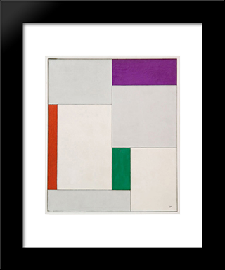 Xvii Composition Dans Le Carre: Modern Black Framed Art Print by Georges Vantongerloo