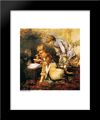 At The Studio: Modern Black Framed Art Print by Georgios Jakobides