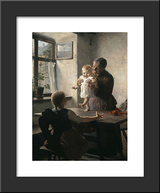 First Steps: Modern Black Framed Art Print by Georgios Jakobides