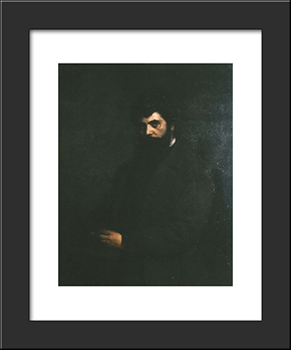 Nikolaos Politis, Student In Munich: Modern Black Framed Art Print by Georgios Jakobides
