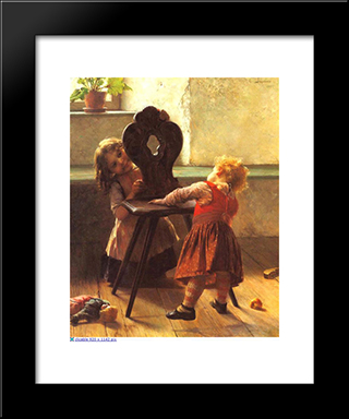 Peek-A-Boo: Modern Black Framed Art Print by Georgios Jakobides