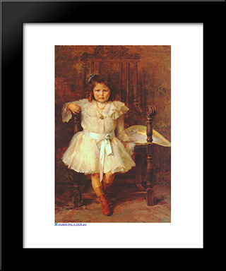 Portrait Of Young Girl: Modern Black Framed Art Print by Georgios Jakobides