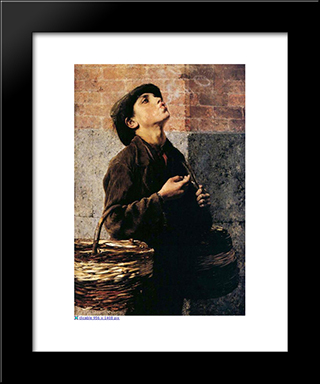 The Smoker: Modern Black Framed Art Print by Georgios Jakobides