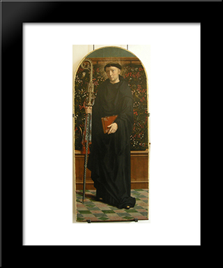 Polyptych Of Cervara St. Mauro: Modern Black Framed Art Print by Gerard David