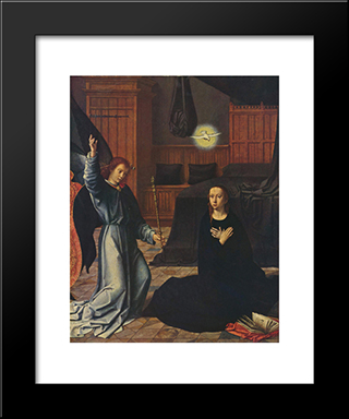 The Annunciation: Modern Black Framed Art Print by Gerard David