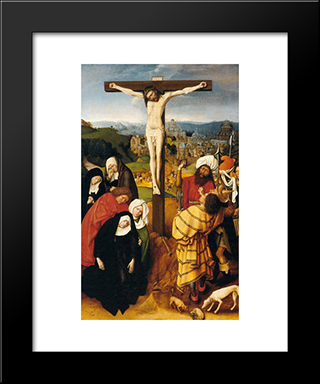 The Crucifixion: Modern Black Framed Art Print by Gerard David