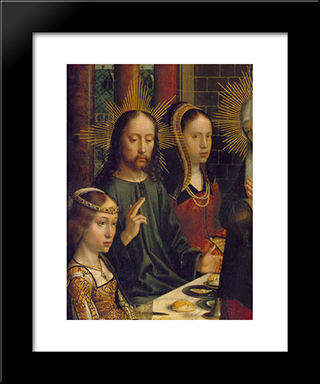 The Marriage At Cana (Detail): Modern Black Framed Art Print by Gerard David