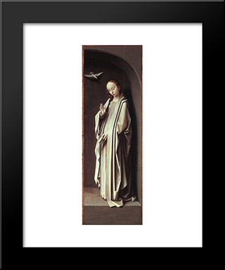 The Virgin Of The Annunciation: Modern Black Framed Art Print by Gerard David