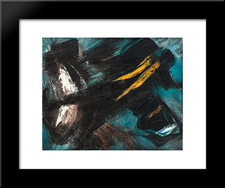 82C: Modern Black Framed Art Print by Gerard Schneider