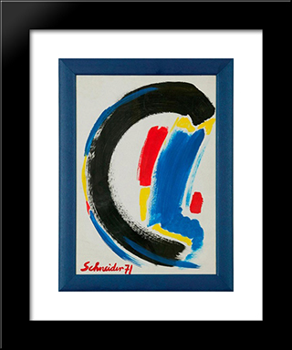 Abstract Composition: Modern Black Framed Art Print by Gerard Schneider