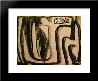 Composition: Modern Black Framed Art Print by Gerard Schneider