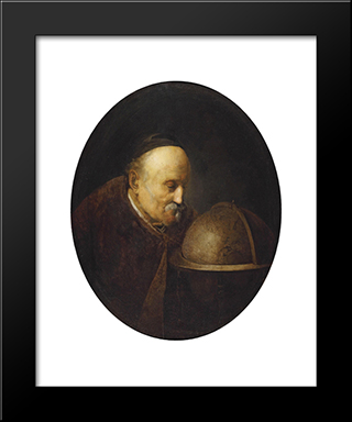 Heraklith: Modern Black Framed Art Print by Gerrit Dou