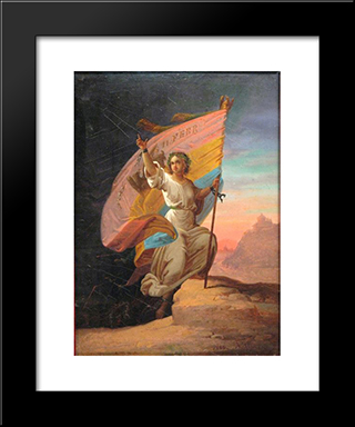 February 11Th, 1866 - The Modern Romania: Modern Black Framed Art Print by Gheorghe Tattarescu