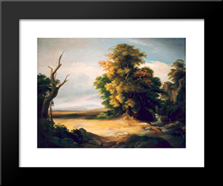 French Landscape: Modern Black Framed Art Print by Gheorghe Tattarescu