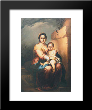 Maternity: Modern Black Framed Art Print by Gheorghe Tattarescu