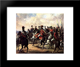 Michael The Brave And His Troops: Modern Black Framed Art Print by Gheorghe Tattarescu
