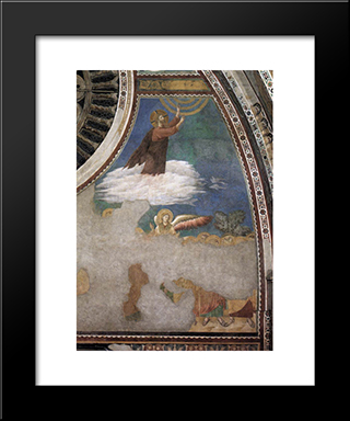 Ascension Of Christ: Modern Black Framed Art Print by Giotto