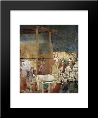 Canonization Of St Francis: Modern Black Framed Art Print by Giotto