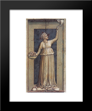 Charity: Modern Black Framed Art Print by Giotto