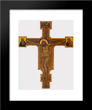 Crucifixion: Modern Black Framed Art Print by Giotto